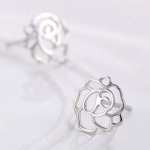 5/$24 Peony Rose Stud Earrings